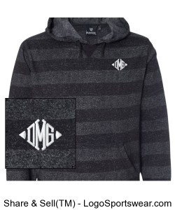 Mens Burnside Printed Striped Fleece Design Zoom