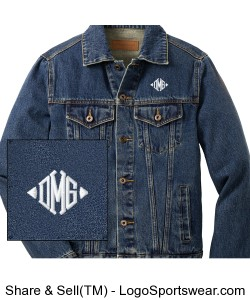 Classic Mens Denim Jacket Design Zoom