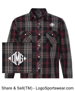 Burnside Long Sleeve Plaid Shirt Design Zoom