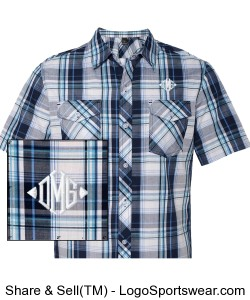 Burnside Young Mens Plaid Short Sleeve Shirt Design Zoom